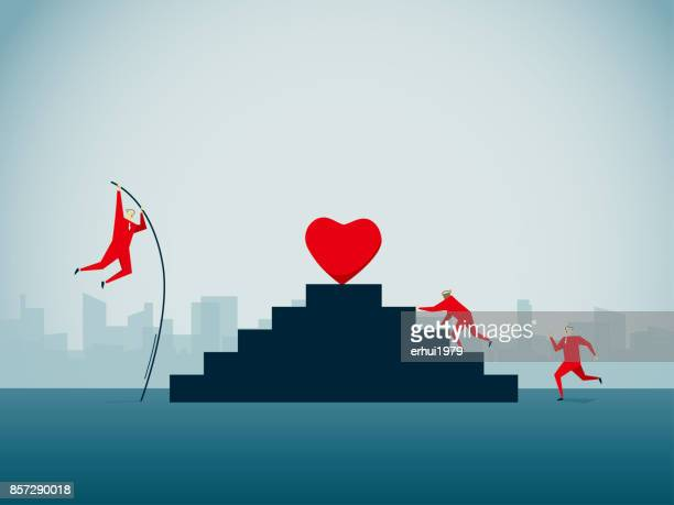 competition - beating heart stock illustrations