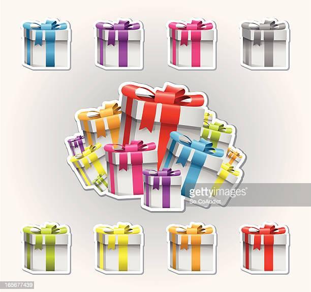 Bunten Gift Box-Symbole
