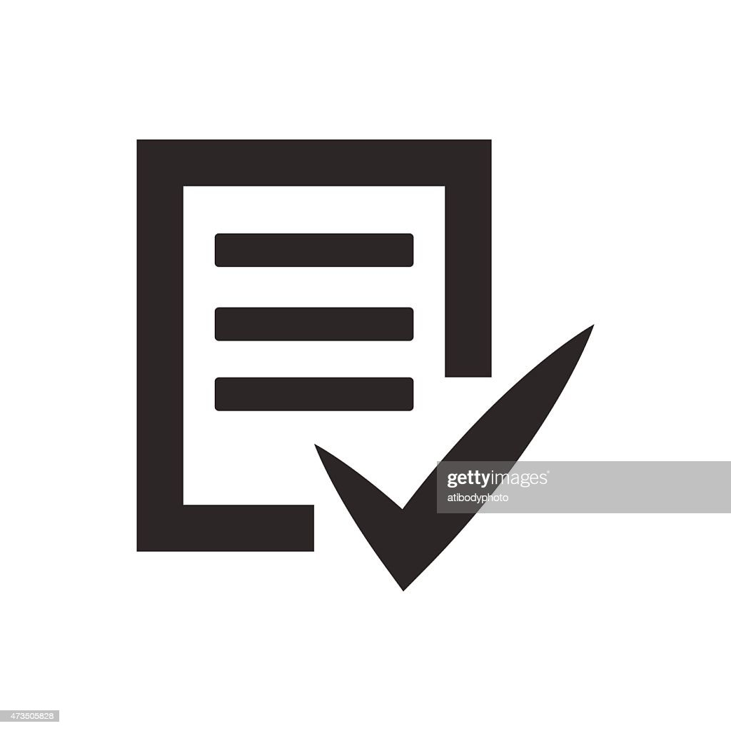 Completed tasks icon vector illustration eps10 on white backgrou