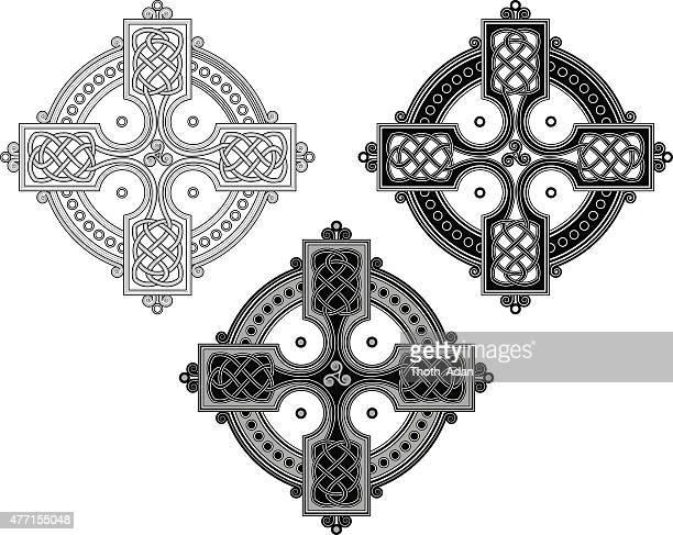 Complex Keltisches Kreuz ornament (geknoteten cross Vielfalt n ° 4