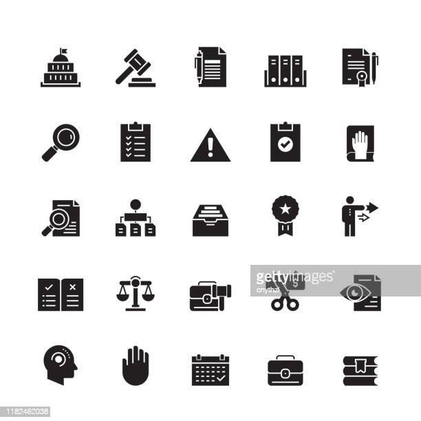 compliance und regulations related vector icons - politik und regierung stock-grafiken, -clipart, -cartoons und -symbole