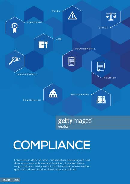 Compliance. Brochure Template Layout, Cover Design