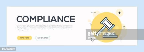 Compliance Concept - Flat Line Web Banner