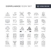 Compliance Editable Stroke Line Icons