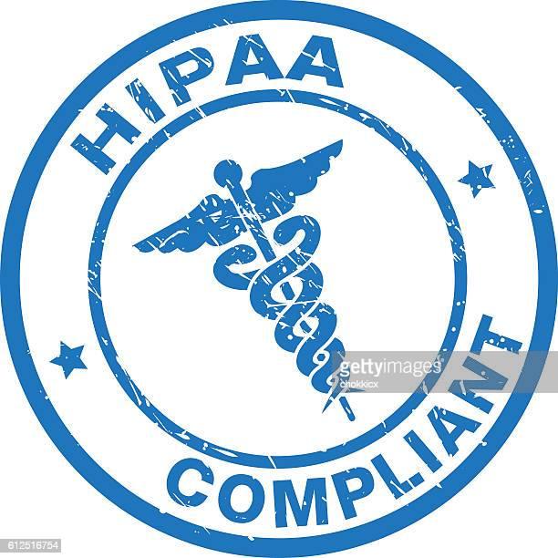 hipaa compliant - conformity stock illustrations