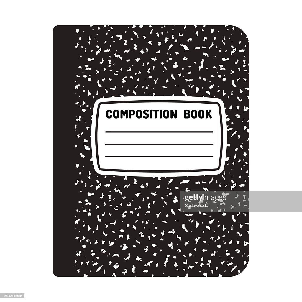 Composition notebook illustration