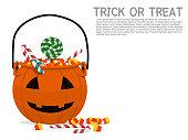 composition of pumpkin basket