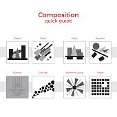 Composition quick guide vector illustration