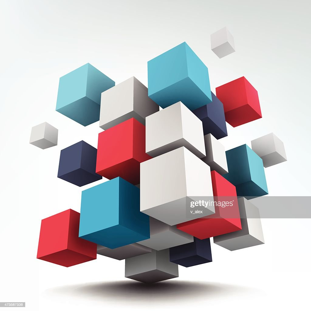 Composition with 3d cubes