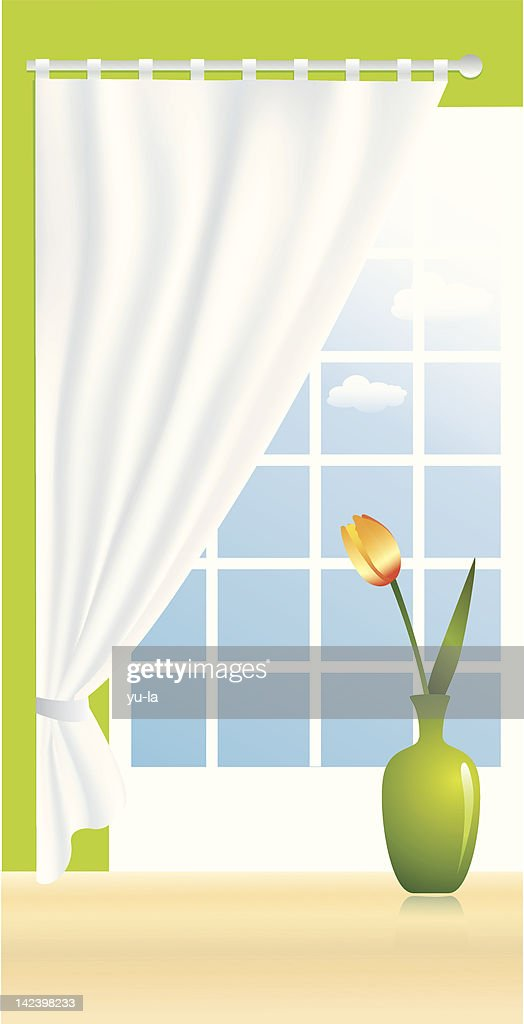 Composition with a tulip