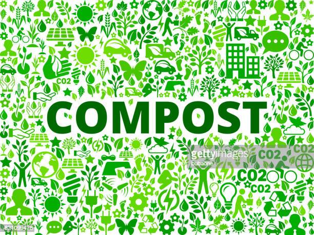 Compost Environmental Conservation Vector Icon Pattern