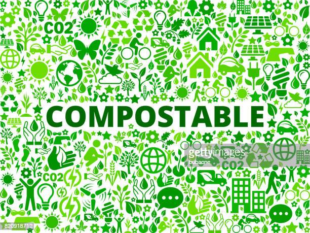 compostable environmental conservation vector icon pattern - activist icon stock illustrations