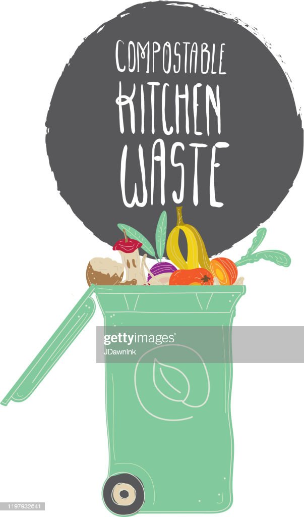 Compostable Kitchen Waste Compost Bin With Spoiled Food And Food Scraps High Res Vector Graphic Getty Images