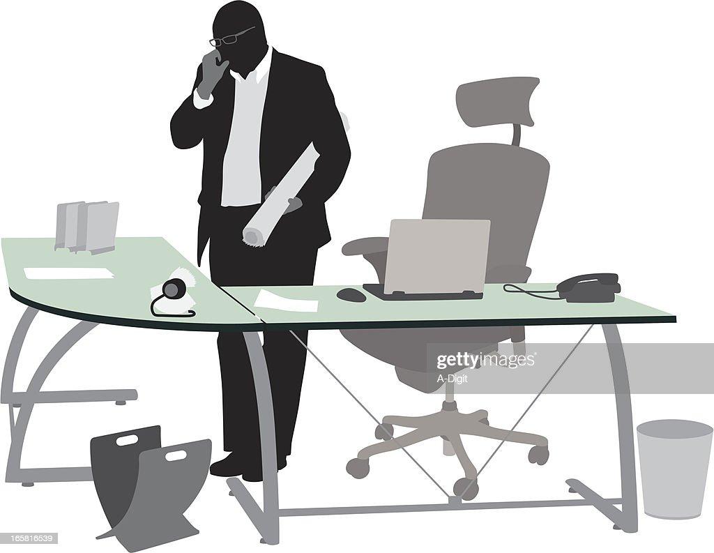 Compute'n Chair Vector Silhouette