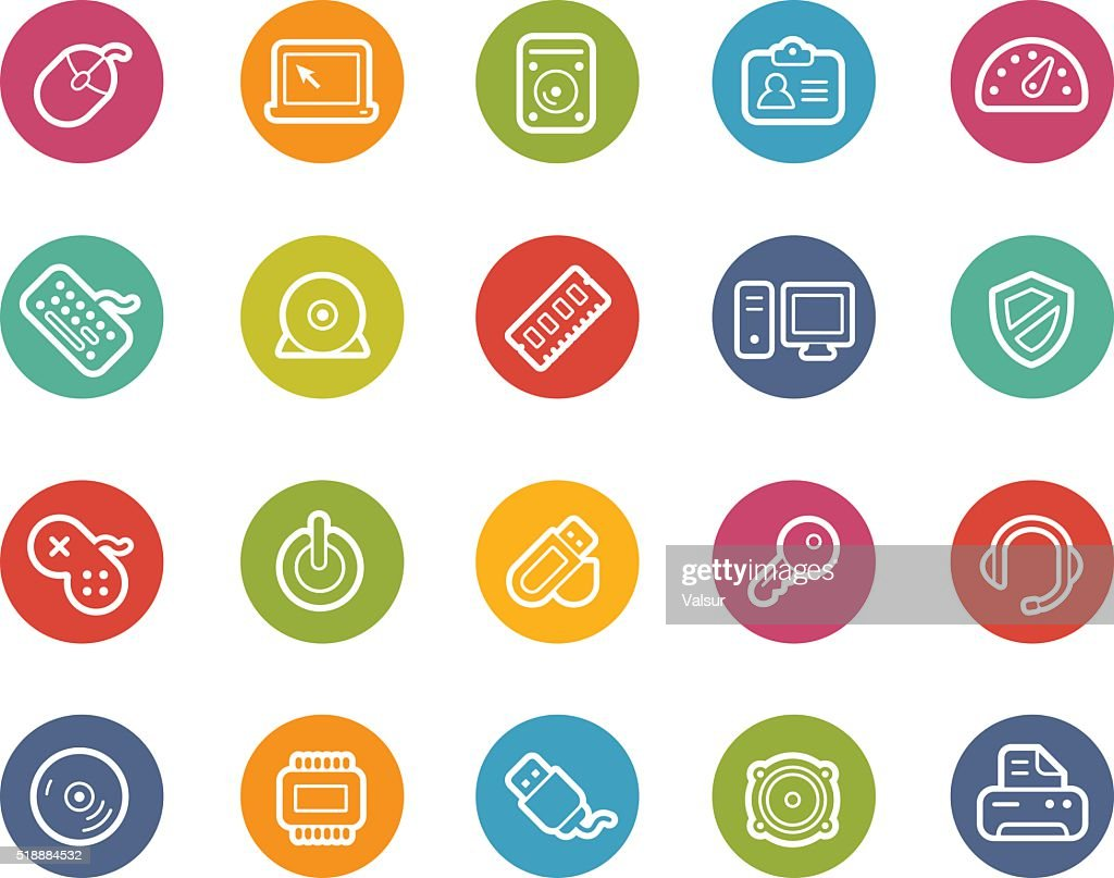 Computer and Devices Icons - Printemps Series