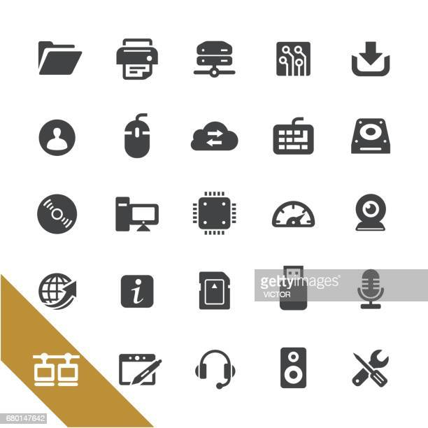 computer and network icons - select series - hard drive stock illustrations, clip art, cartoons, & icons