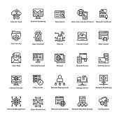 Computer and Networks Line Vectors Set