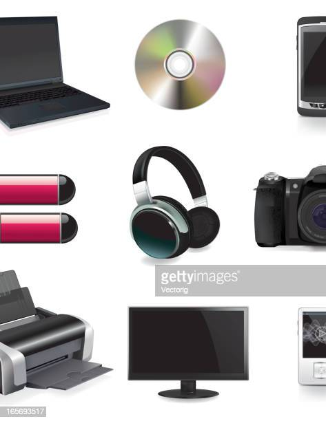 computer and technology icons - usb stick stock illustrations, clip art, cartoons, & icons