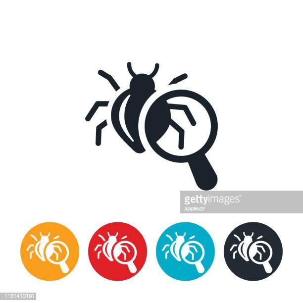 computer bug icon - computer bug stock illustrations
