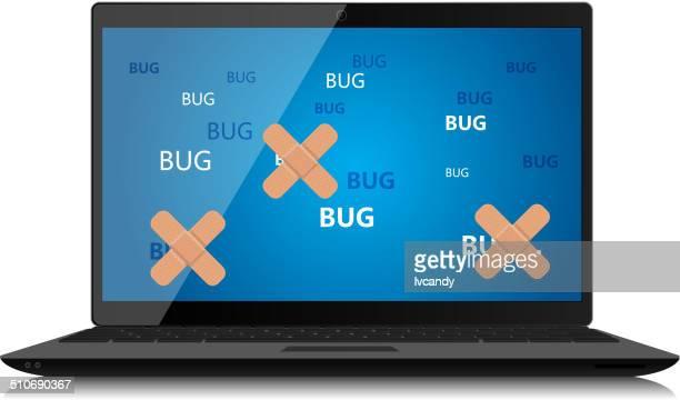 ilustraciones, imágenes clip art, dibujos animados e iconos de stock de error de programación - sistema operativo