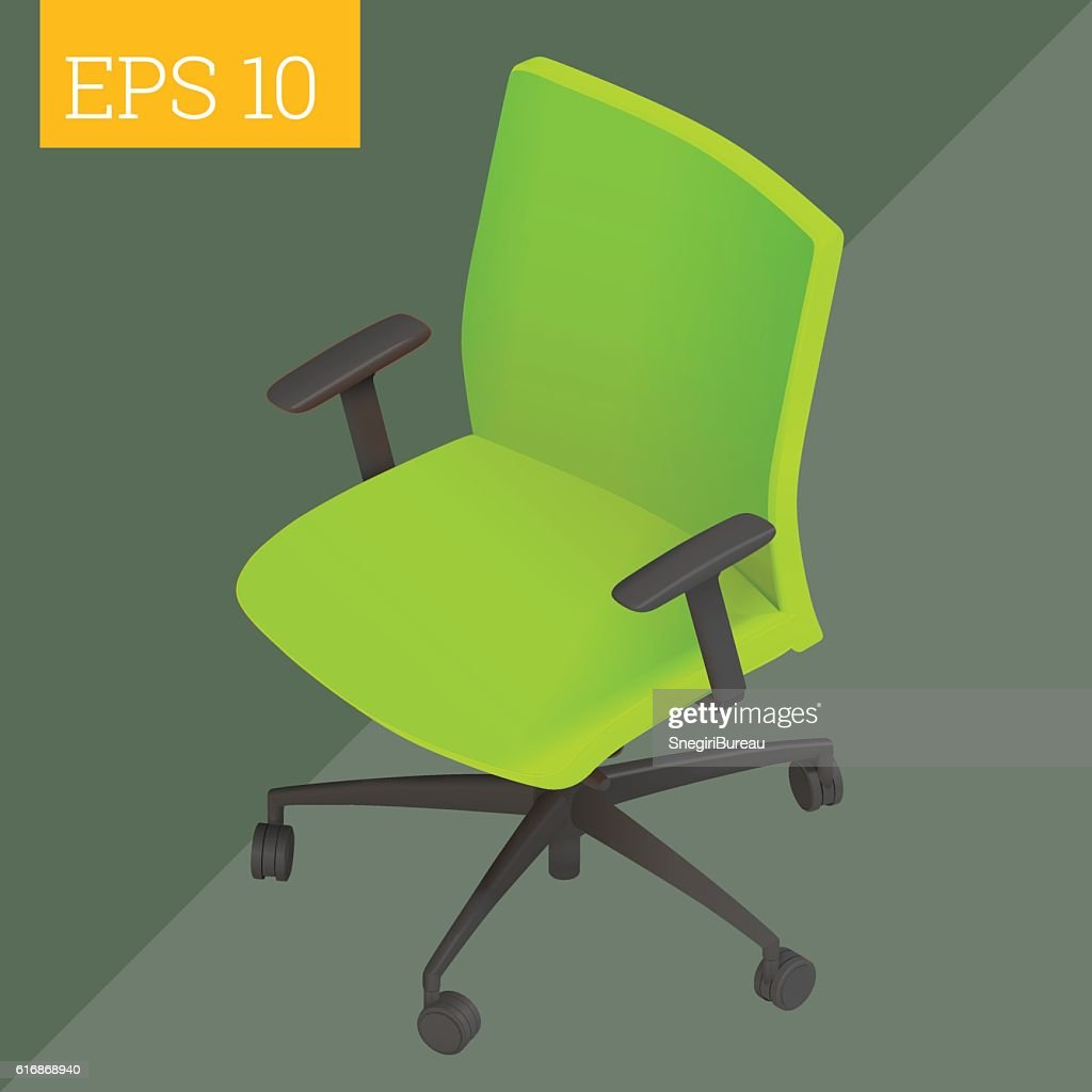 computer chair isometric vector illustration : Vector Art