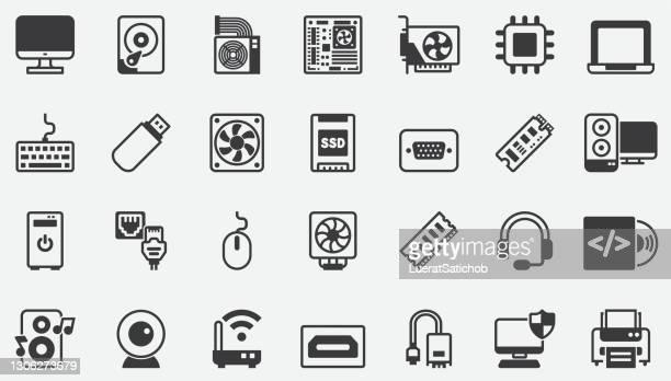 コンピュータ コンポーネント アクセサリ ハードウェア ストア コンセプト アイコン - コンピュータキーボード点のイラスト素材/クリップアート素材/マンガ素材/アイコン素材