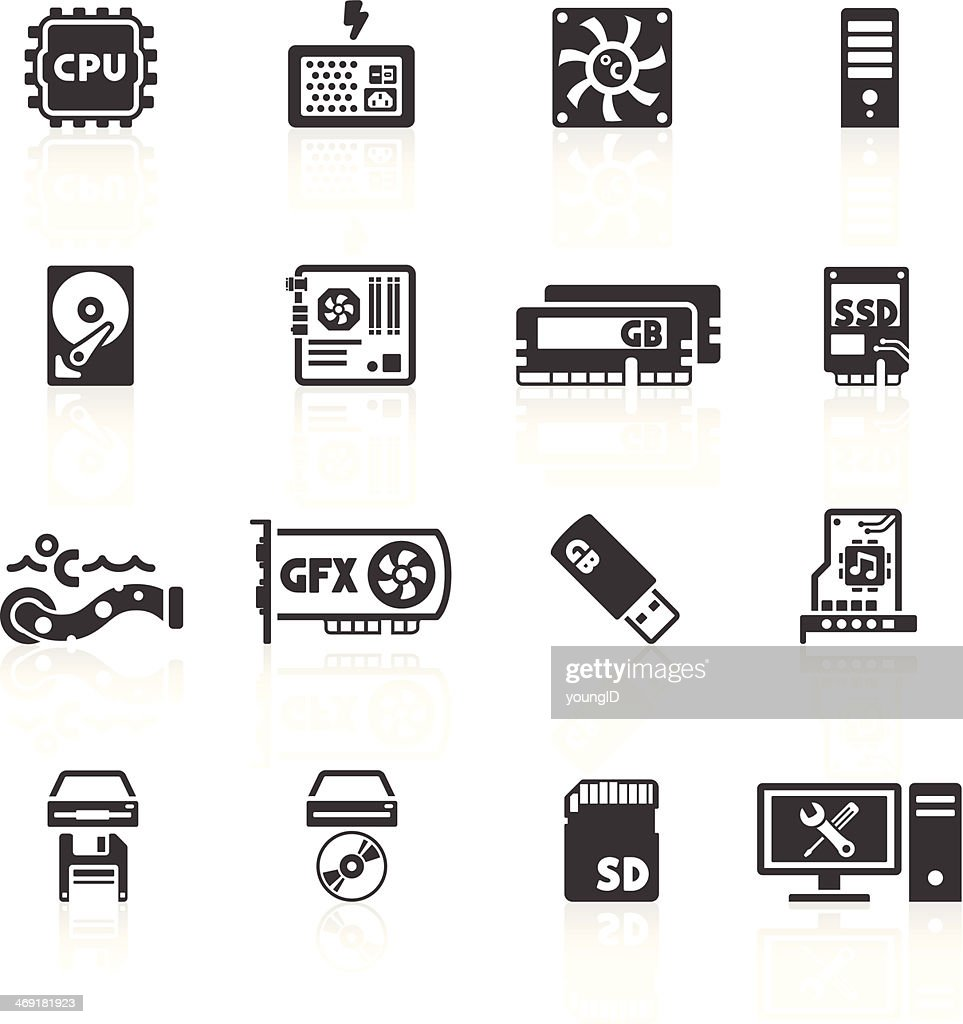 Computer Components Icons
