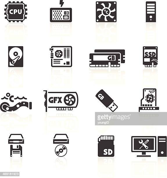 computer components icons - usb cable stock illustrations, clip art, cartoons, & icons