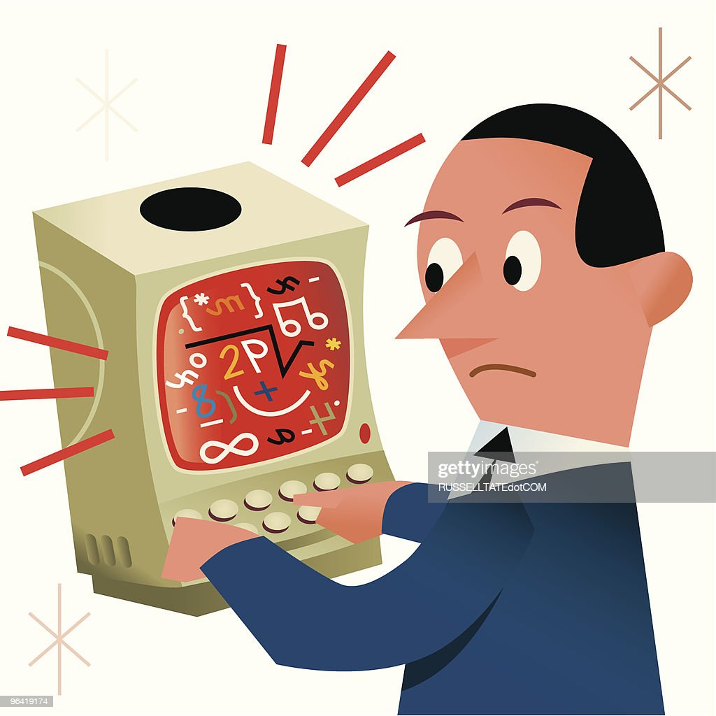 Computer Confusion? : stock illustration