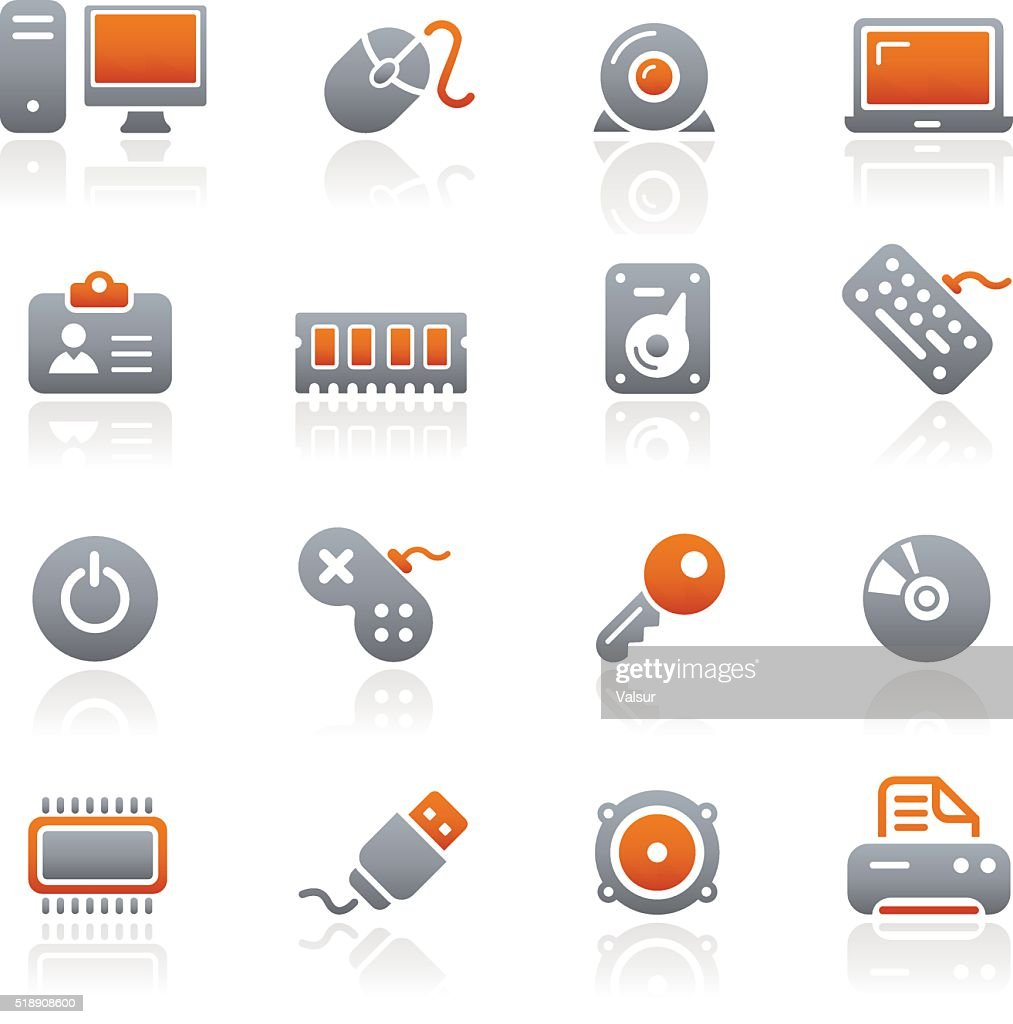 Computer & Devices Icons - Graphite Series