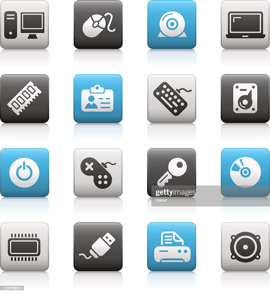 Computer & Devices Icons - Matte Series