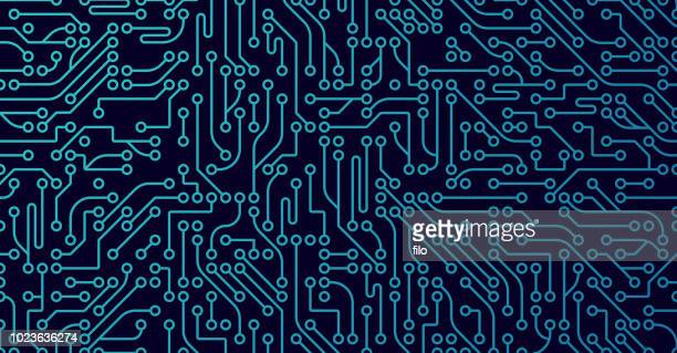 computer digital background - technology stock illustrations