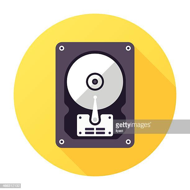 computer disk icon - hard drive stock illustrations