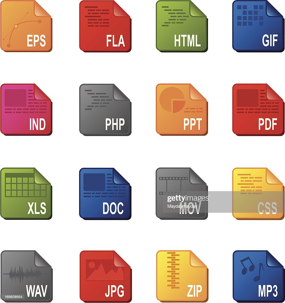 Computer document icons