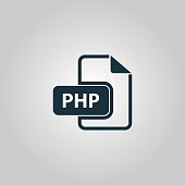 PHP computer file extension symbol