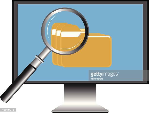 ilustrações, clipart, desenhos animados e ícones de computador vetor de pesquisa de arquivo - submita busca