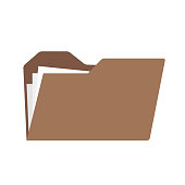 Computer folder with files. Vector