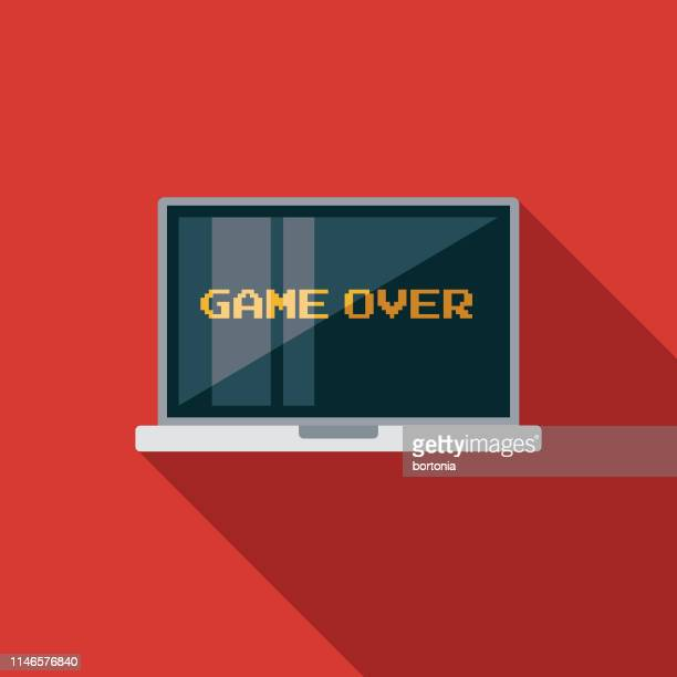 Computer Game Flat Design Icon