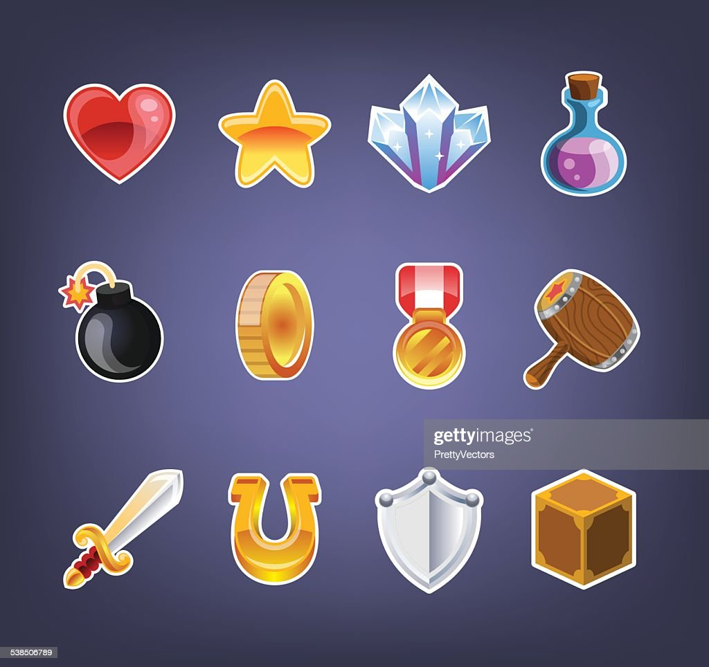 Computer game icon set
