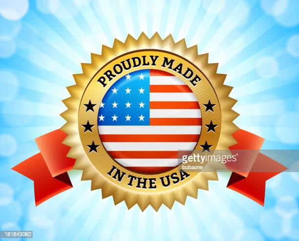 """computer graphic gold badge that reads """"made in america - great seal stock illustrations, clip art, cartoons, & icons"""