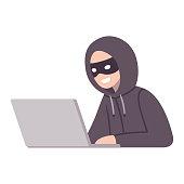 Computer hacker thief