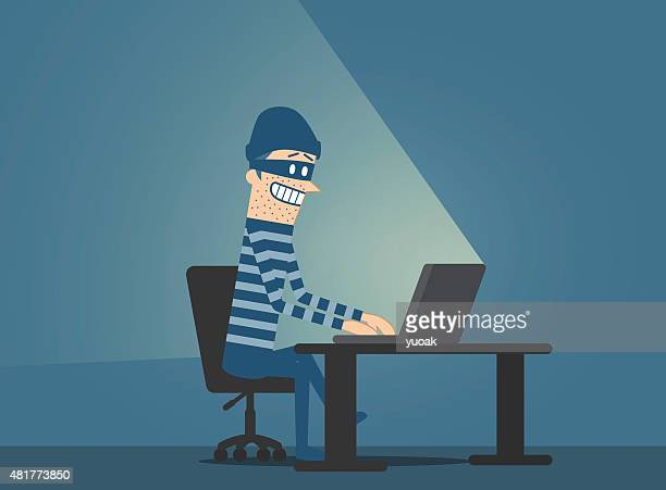 computer hacker - cardkey stock illustrations, clip art, cartoons, & icons