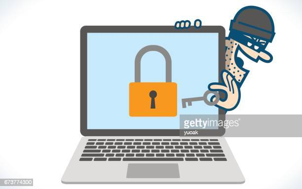 computer hacker - security code stock illustrations