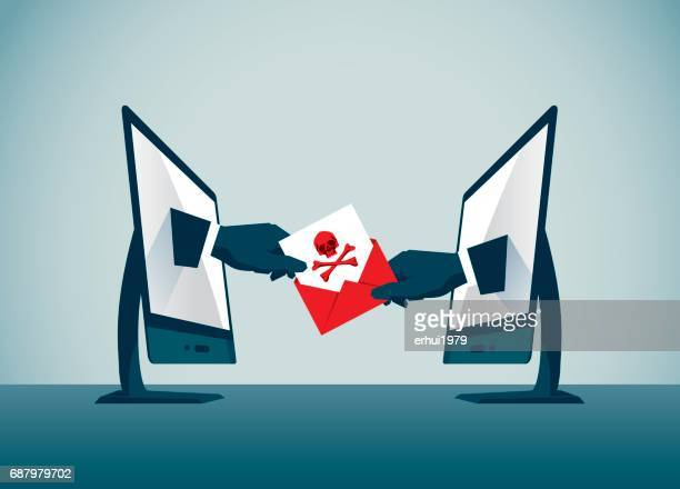 computer hacker - computer hacker stock illustrations