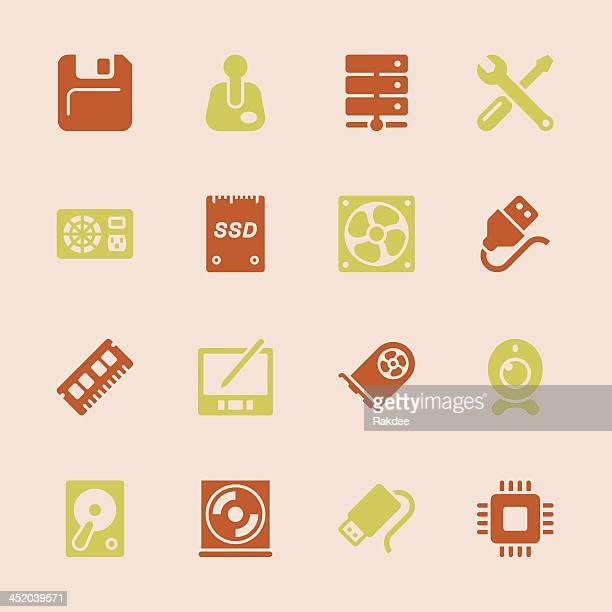 computer hardware icons set 2 - color series   eps10 - power supply box stock illustrations, clip art, cartoons, & icons