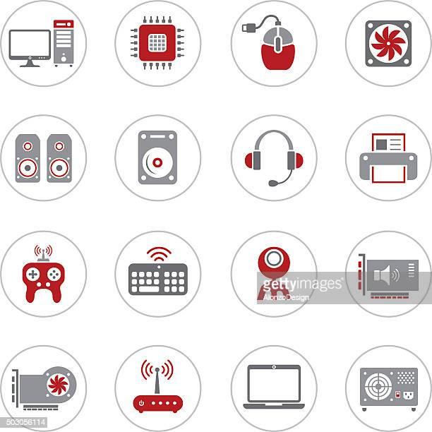 computer hardware icons - power supply box stock illustrations, clip art, cartoons, & icons