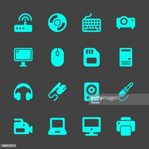 computer hardware icons - computer speaker stock illustrations, clip art, cartoons, & icons