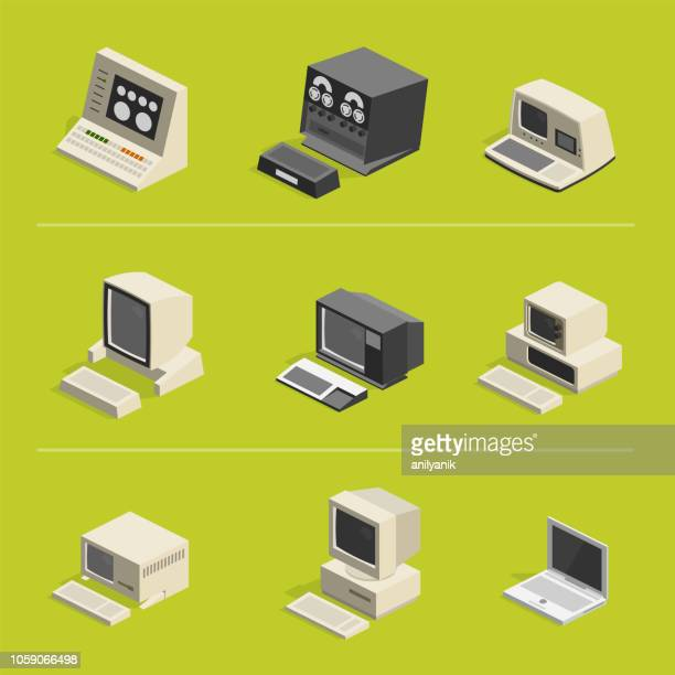 computer history 1 - computer stock illustrations