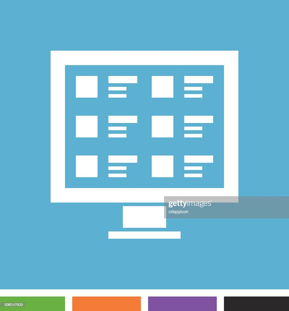 Computer icon : stock illustration
