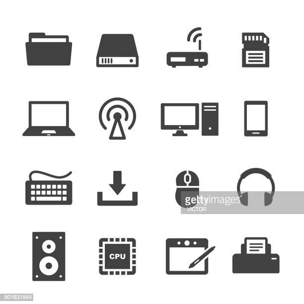 computer icons - acme series - computer part stock illustrations